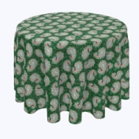 """Round Tablecloth, 100% Polyester, 108"""" Round, Oriental Paisley"""