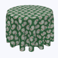 """Round Tablecloth, 100% Polyester, 114"""" Round, Oriental Paisley - 1 Product"""