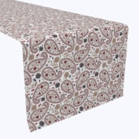 "Table Runner, 100% Polyester, 14x108"", Paisley & Flowers"