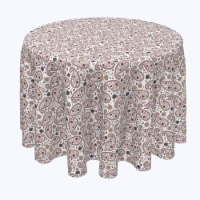 """Round Tablecloth, 100% Polyester, 84"""" Round, Paisley & Flowers - 1 Product"""