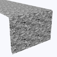 """Table Runner, 100% Polyester, 14x108"""", Paisley Lace Curve"""