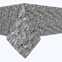 """Square Tablecloth, 100% Polyester, 54x54"""", Paisley Lace Curve - 1 Product"""