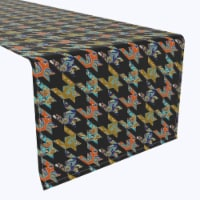 """Table Runner, 100% Polyester, 12x72"""", Paisley Patchwork - 1 Product"""