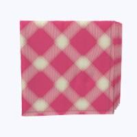 "Napkin Set, 100% Polyester, Set of 12, 18x18"", Pink & Yellow Checkered Plaid"