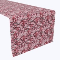"""Table Runner, 100% Polyester, 12x72"""", Pink Floral Motifs - 1 Product"""