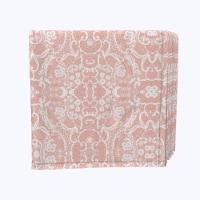 "Napkin Set, 100% Polyester, Set of 12, 18x18"", Pink Lace Damask - 12 Units, 1 Product"
