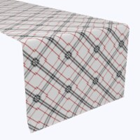 """Table Runner, 100% Polyester, 14x108"""", Red & Black Fashion Plaid - 1 Product"""