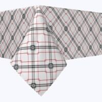 "Rectangular Tablecloth, 100% Polyester, 60x104"", Red & Black Fashion Plaid"
