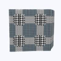 "Napkin Set, 100% Polyester, Set of 12, 18x18"", Retro Houndstooth - 12 Units, 1 Product"