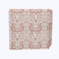 "Napkin Set, 100% Polyester, Set of 12, 18x18"", Retro Patterned Lace"