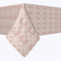 """Square Tablecloth, 100% Polyester, 54x54"""", Retro Patterned Lace"""