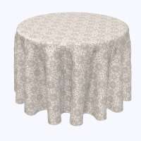 """Round Tablecloth, 100% Polyester, 120"""" Round, Simple Vintage Lace"""