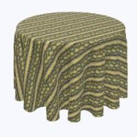 "Round Tablecloth, 100% Polyester, 120"" Round, Snake Skin Stripe"