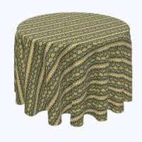 """Round Tablecloth, 100% Polyester, 96"""" Round, Snake Skin Stripe - 1 Product"""