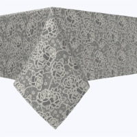 """Rectangular Tablecloth, 100% Polyester, 60x120"""", Stylized Lace Roses"""