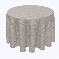 """Round Tablecloth, 100% Polyester, 120"""" Round, Textured Lace Pattern - 1 Product"""