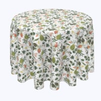 """Round Tablecloth, 100% Polyester, 60"""" Round, Tropical Flowers & Leaves"""