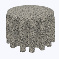 """Round Tablecloth, 100% Polyester, 60"""" Round, Vintage Deco Lace - 1 Product"""