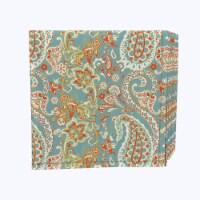 """Napkin Set, 100% Polyester, Set of 12, 18x18"""", Vintage Paisley Damask - 12 Units, 1 Product"""