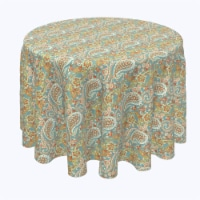 "Round Tablecloth, 100% Polyester, 84"" Round, Vintage Paisley Damask"