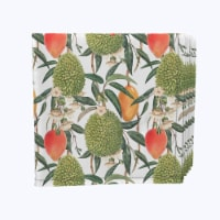"Napkin Set, 100% Polyester, Set of 12, 18x18"", Watercolor Tropics"