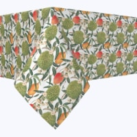 "Square Tablecloth, 100% Polyester, 90x90"", Watercolor Tropics"