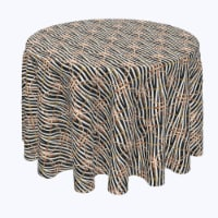 """Round Tablecloth, 100% Polyester, 108"""" Round, Zebra Chains & Ropes"""