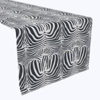 """Table Runner, 100% Polyester, 12x72"""", Zebra Skin"""