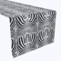 "Table Runner, 100% Polyester, 14x108"", Zebra Skin"