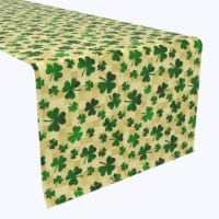 """Table Runner, 100% Polyester, 14x108"""", Checkmate Clover Squares - 1 Product"""