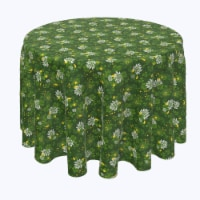 "Round Tablecloth, 100% Polyester, 60"" Round, Clover Blossom"