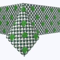"Rectangular Tablecloth, 100% Polyester, 60x104"", Infinity Shamrock - 1 Product"