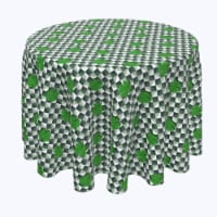 """Round Tablecloth, 100% Polyester, 96"""" Round, Infinity Shamrock"""