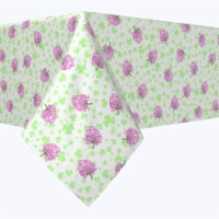 "Rectangular Tablecloth, 100% Polyester, 60x104"", Irish Bloom White"