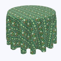 "Round Tablecloth, 100% Polyester, 70"" Round, Irish Sweater Argyle - 1 Product"