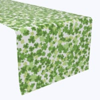 """Table Runner, 100% Polyester, 14x108"""", St. Patrick's Day Puzzle Pieces - 1 Product"""