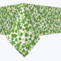 """Rectangular Tablecloth, 100% Polyester, 60x120"""", St. Patrick's Day Puzzle Pieces"""