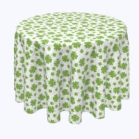 """Round Tablecloth, 100% Polyester, 102"""" Round, Swirling Clover Swirls - 1 Product"""