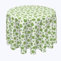 "Round Tablecloth, 100% Polyester, 114"" Round, Swirling Clover Swirls"