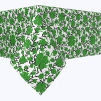 """Square Tablecloth, 100% Polyester, 60x60"""", Vines of Clovers"""