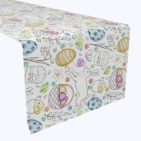 """Table Runner, 100% Polyester, 12x72"""", Chicken Hatch Fun - 1 Product"""