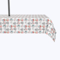 """Water Repellent, Outdoor, 100% Polyester, 60x104"""", Easter Tic Tac Toe - 1 Product"""