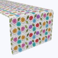 "Table Runner, 100% Polyester, 14x108"", Endless Floral Vine Ropes"