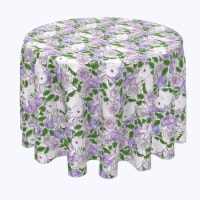 """Round Tablecloth, 100% Polyester, 90"""" Round, Grandma Bunny Floral - 1 Product"""