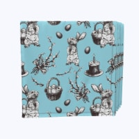 """Napkin Set, 100% Polyester, Set of 12, 18x18"""", Have You Seen Alice"""
