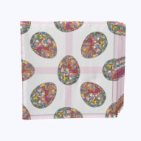 "Napkin Set, 100% Polyester, Set of 12, 18x18"", Mosaic Easter Eggs - 12 Units, 1 Product"