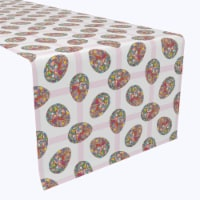 """Table Runner, 100% Polyester, 14x108"""", Mosaic Easter Eggs - 1 Product"""