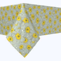 """Rectangular Tablecloth, 100% Polyester, 60x104"""", Old Fashioned Yellow Floral"""