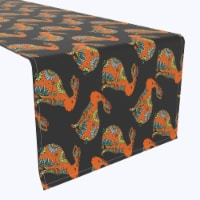 """Table Runner, 100% Polyester, 12x72"""", Orange Chill Rabbit - 1 Product"""