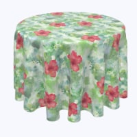 """Round Tablecloth, 100% Polyester, 60"""" Round, Organic Petal Watercolor"""